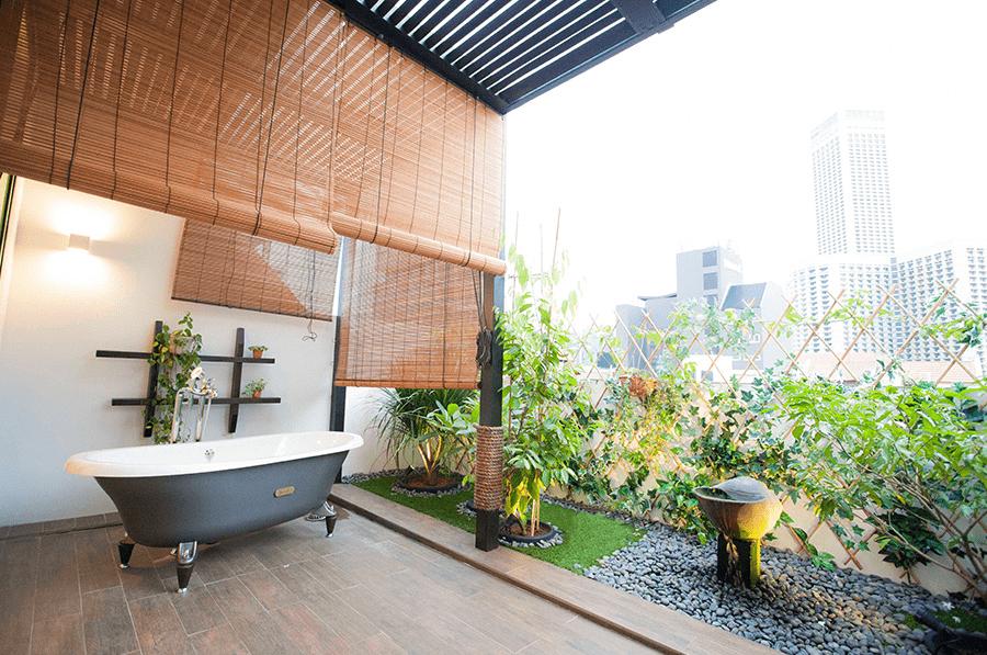 Hotel NuVe Heritage - Outdoor Bathtub Rooftop Garden