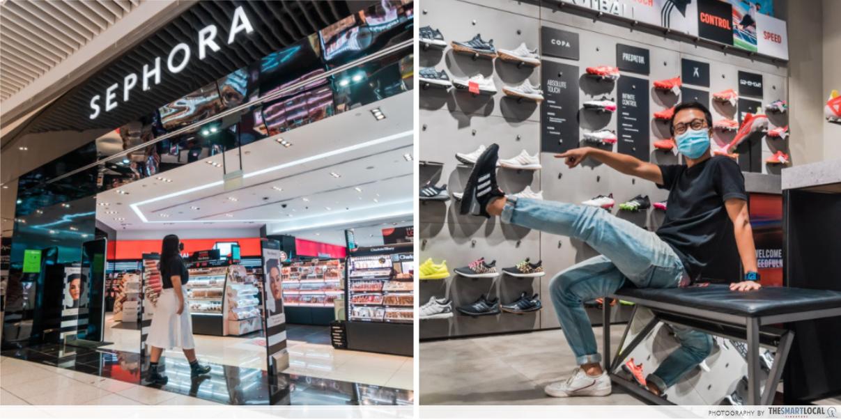 shopping therapy at suntec city sephora and adidas