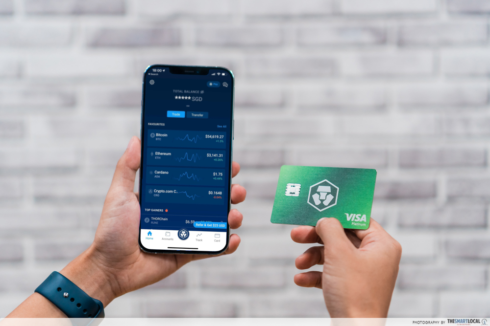 cryptocurrency in singapore - crypto.com app and Visa card