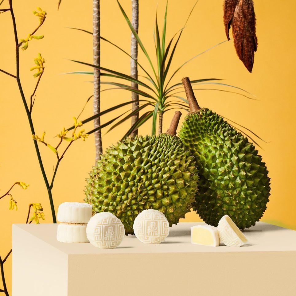 durian mooncake - Ding Bakery