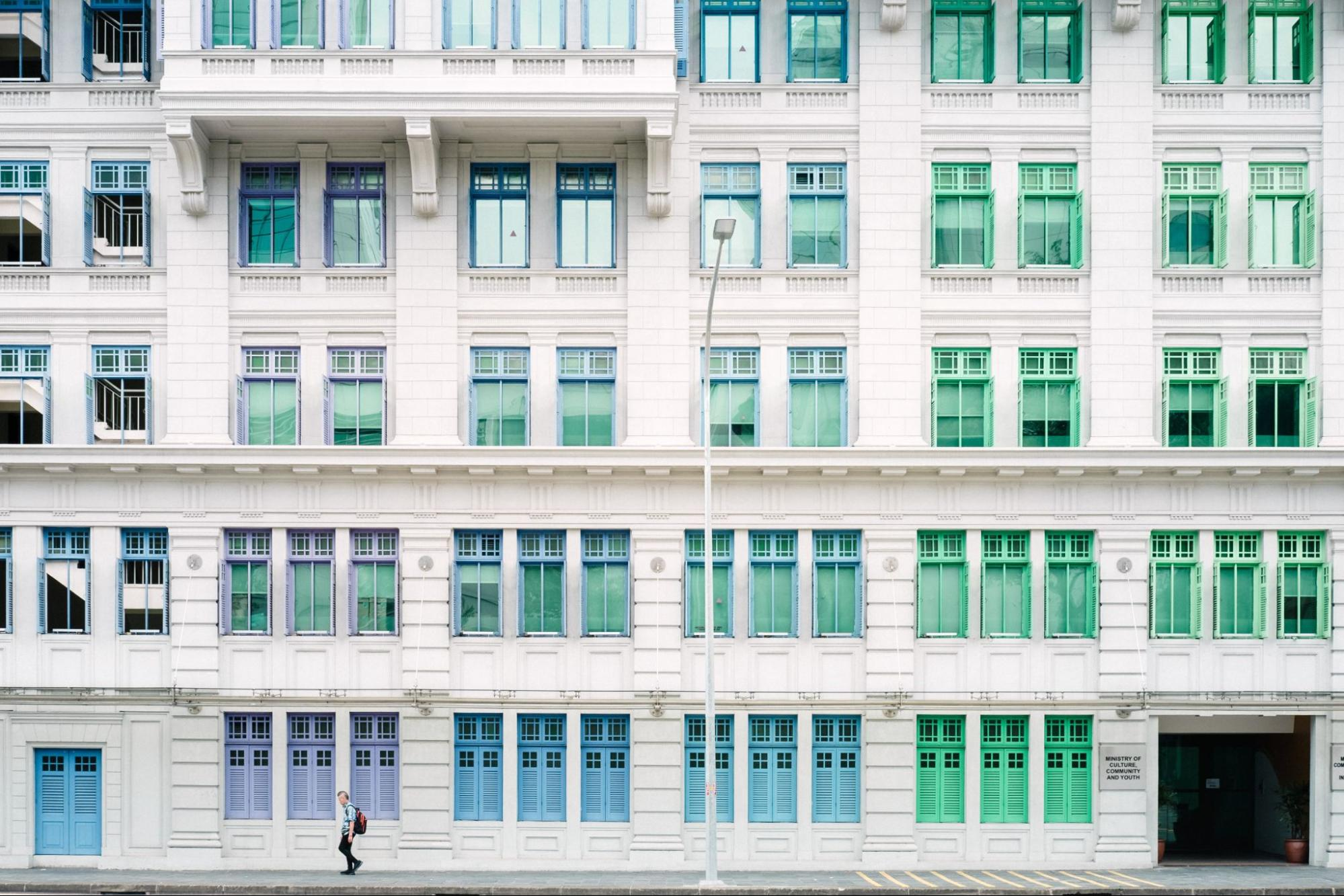 The Many Windows of Old Hill Street Police Station