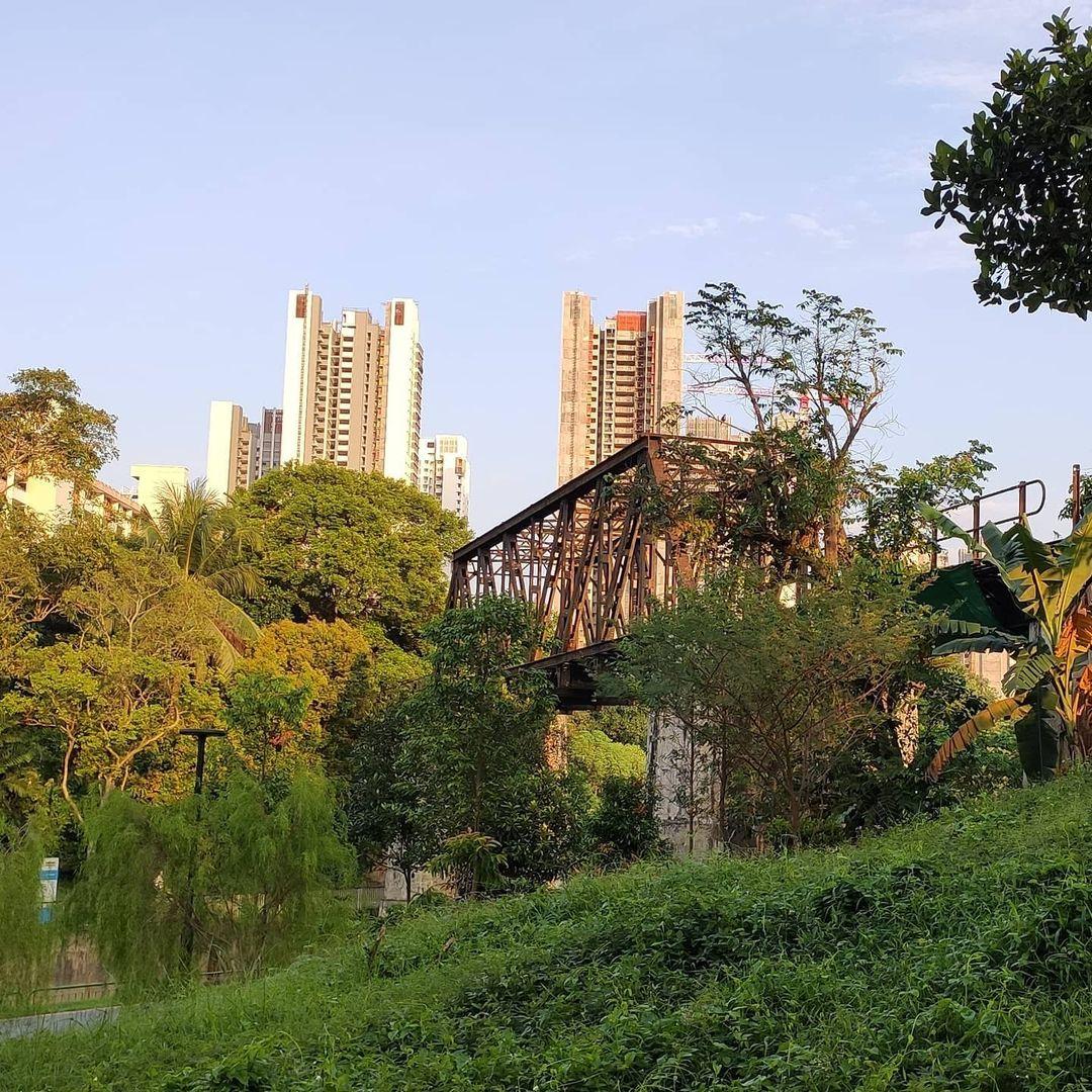 sunset way sungei ulu pandan jurong railway truss bridge