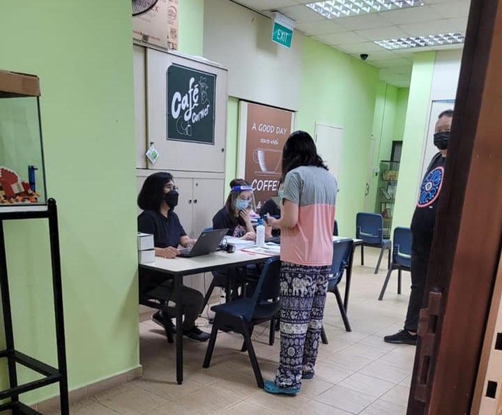 vaccination centre resident's corner