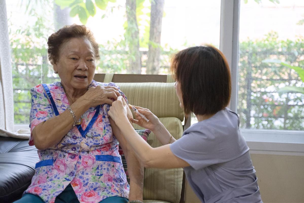 vaccination centre elderly