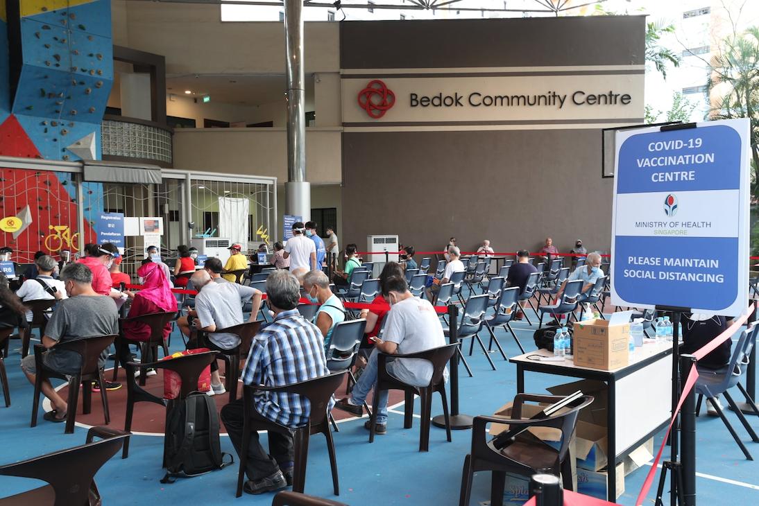 vaccination centre bedok community centre