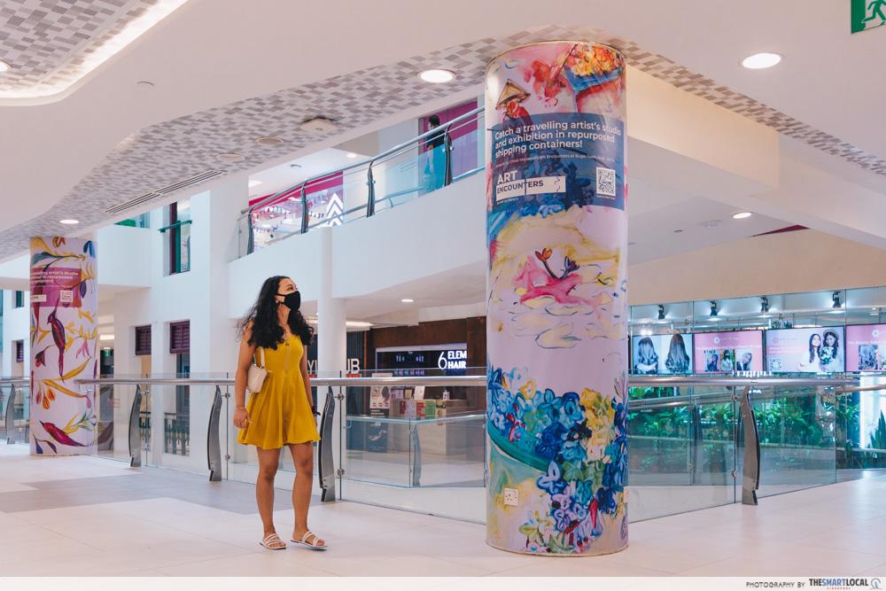Hidden artwork at Bugis mall