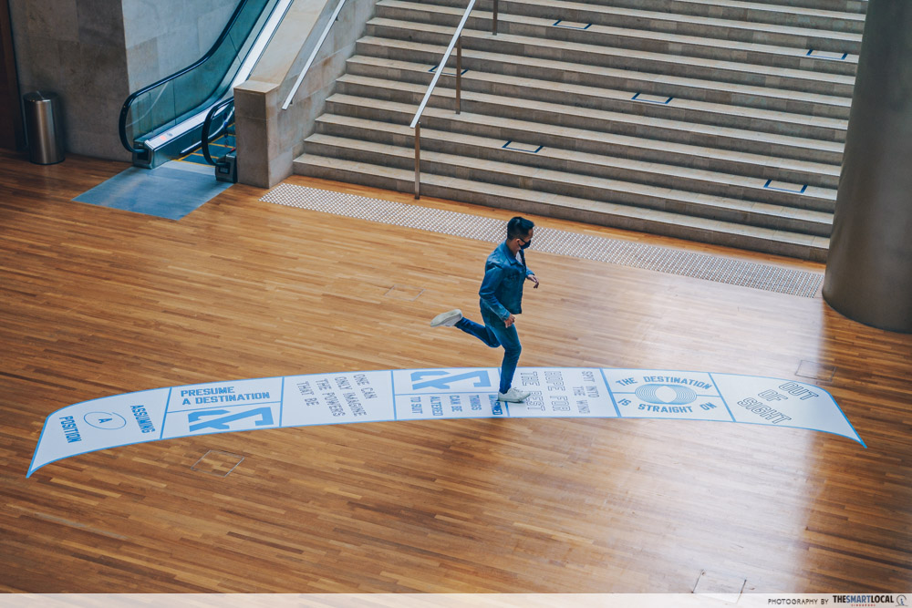 out of sight lawrence weiner at national gallery singapore