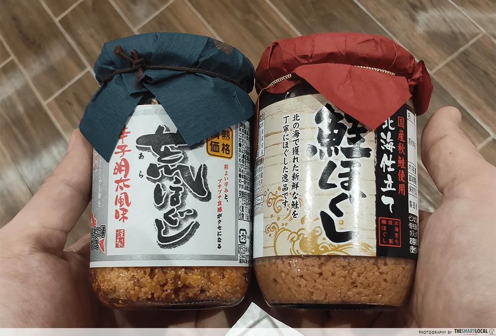 Flaked Salmon Rice Topping Jars