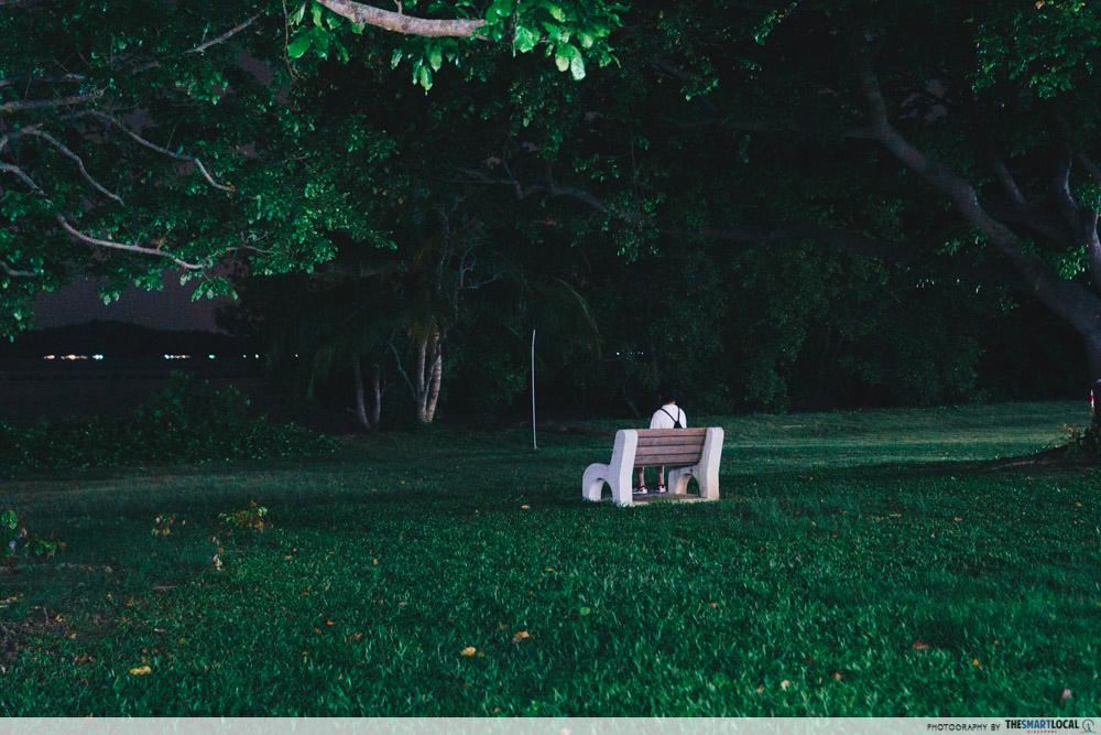 ghost hunting - bench