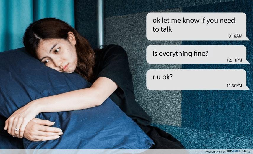 Mental Health - Ghosting texts inllustration