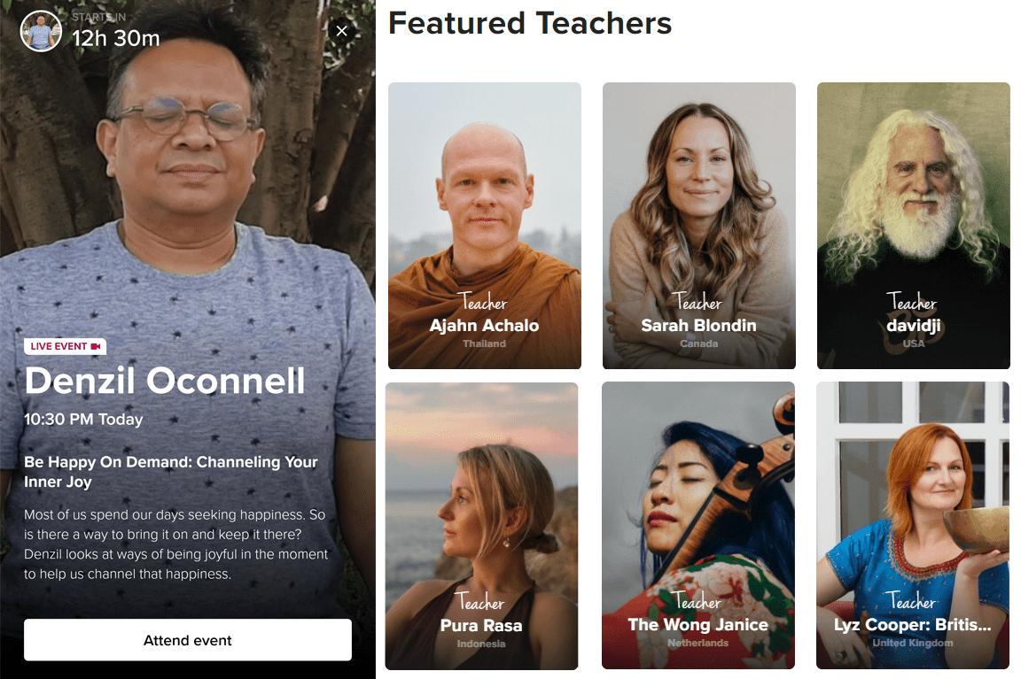 Mental Health Apps - Insight Timer meditation