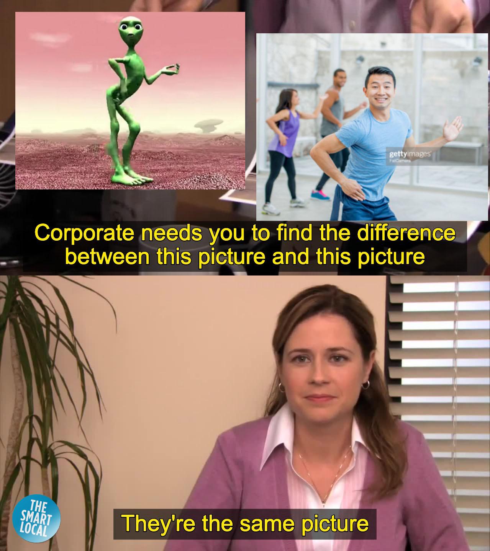 simu liu stock photo meme