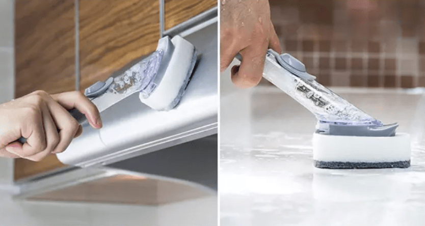 cleaning tools - brush with soap dispenser