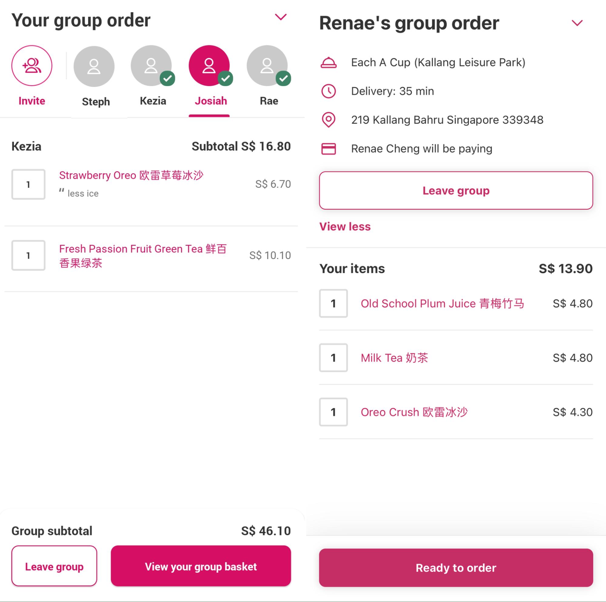 foodpanda hacks - group order food delivery