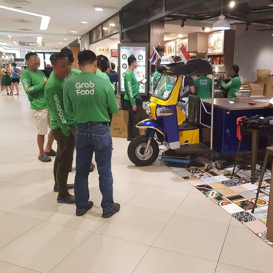 crowd of delivery riders