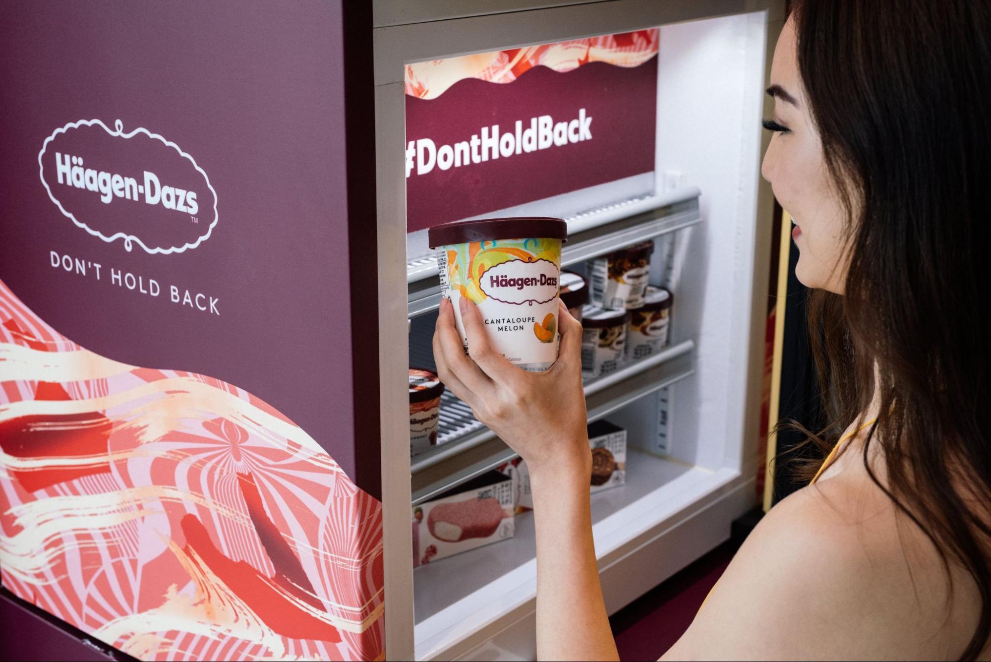 haagen dazs staycation - Shangri-La Singapore - fridge