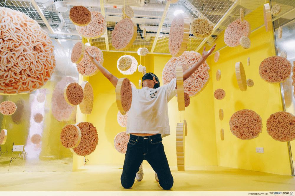 slurping good - raining noodles