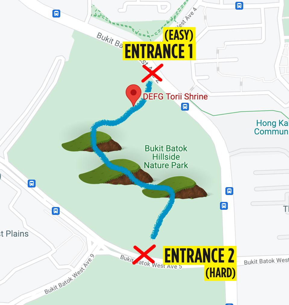 bukit batok hillside park map