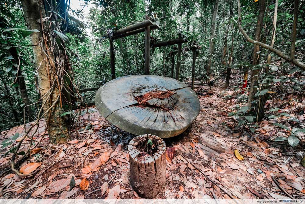 bukit batok hillside park - broken table