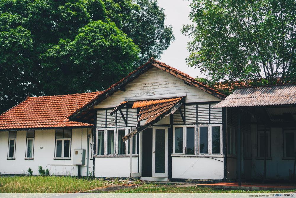 Abandoned colonial house at Seletar Aerospace Park