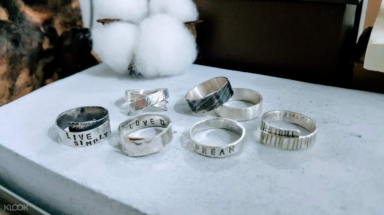 luxury activities singapore - silver jewellery and stone setting workshop