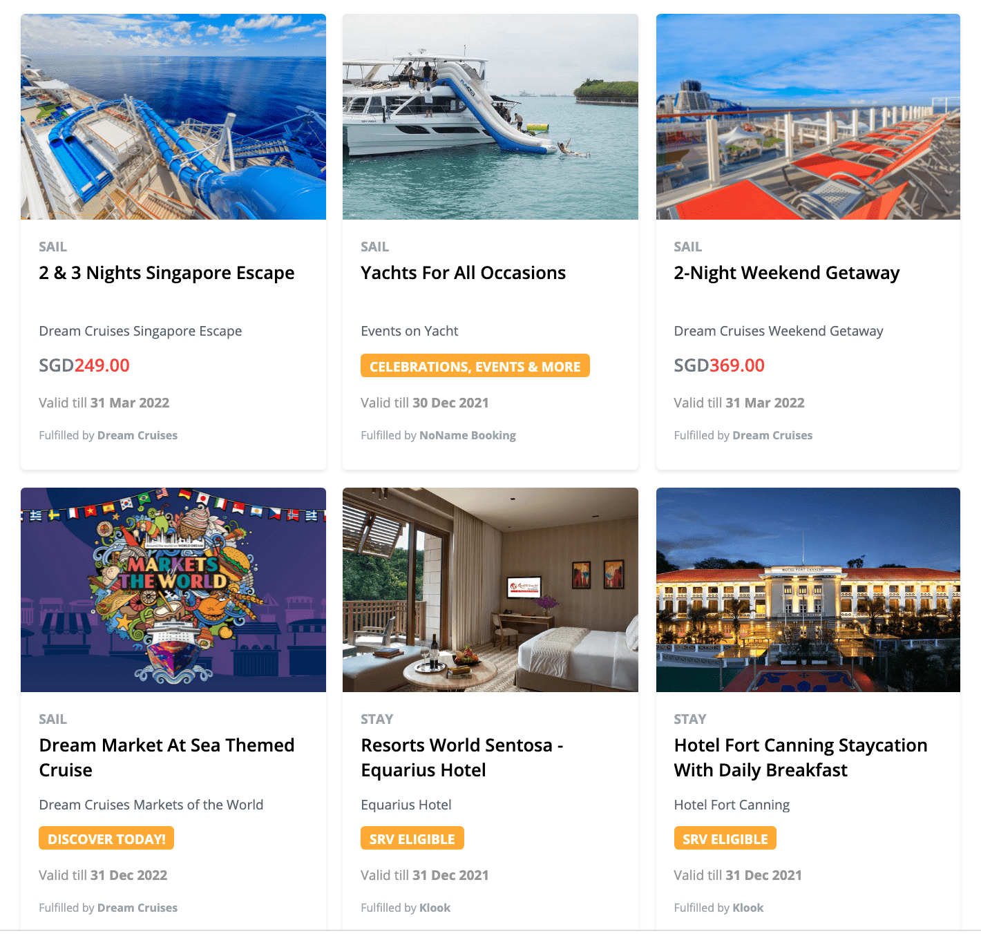 DBS Travel & Leisure Marketplace
