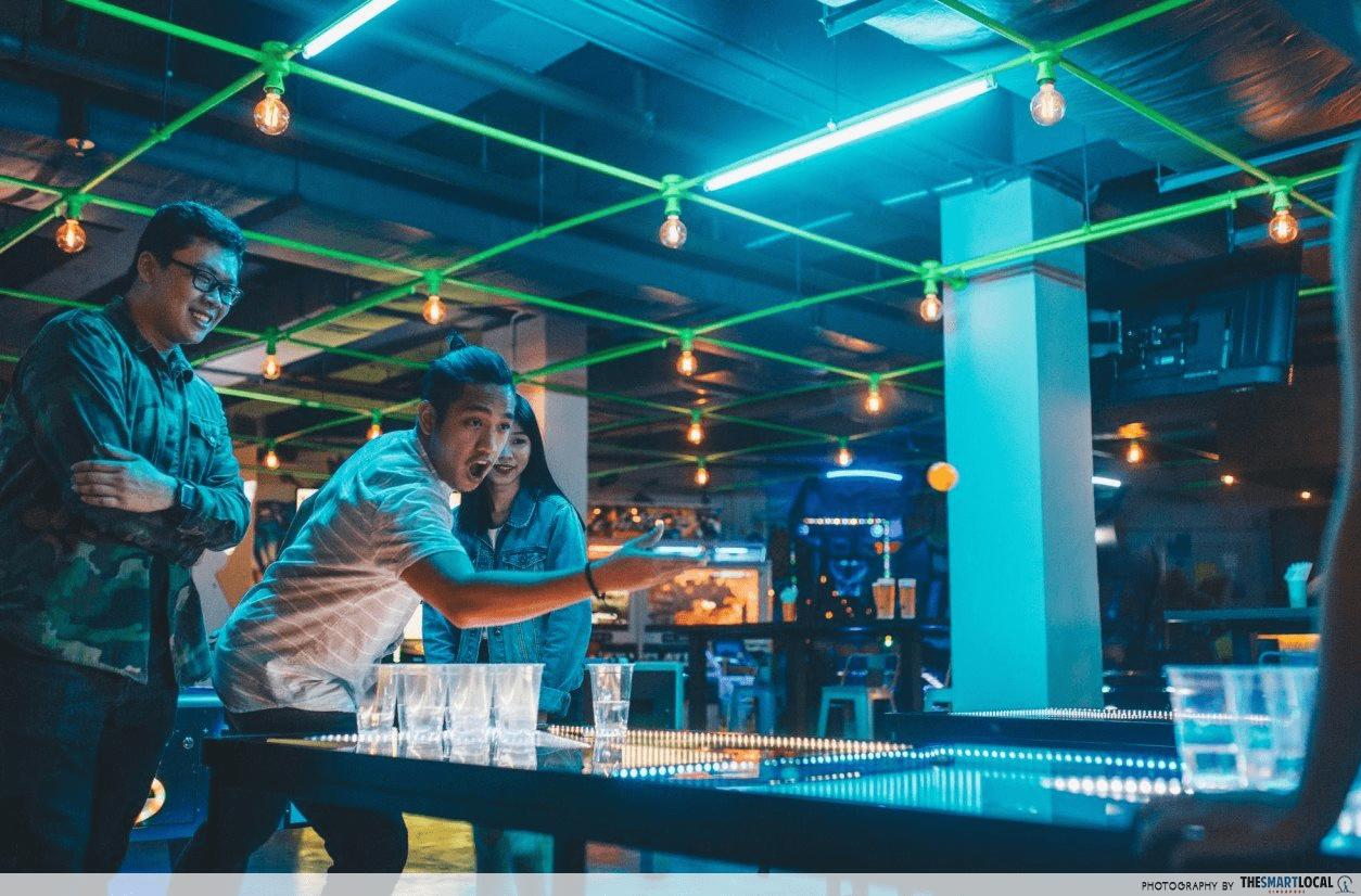 drinking games bar beer pong