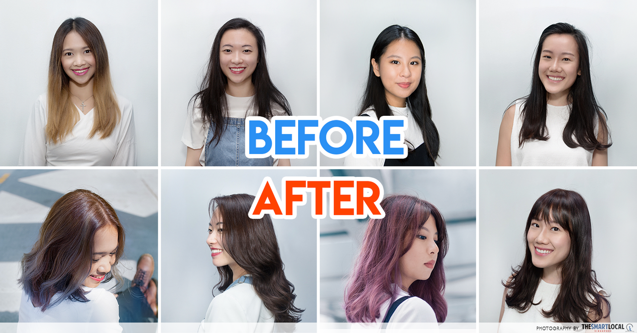 5 Complete Hairstyle Makeovers For Singaporean Girls On Point For 2015