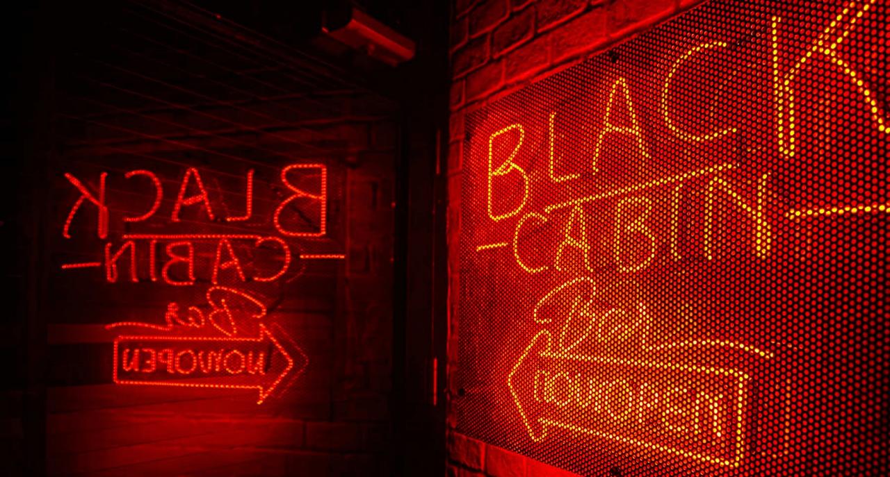 Black Cabin - neon lights