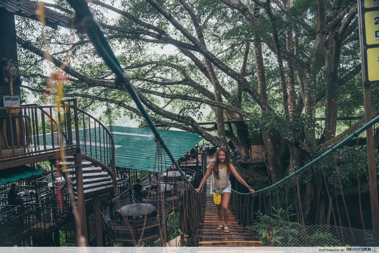 giant chiang mai rope bridge