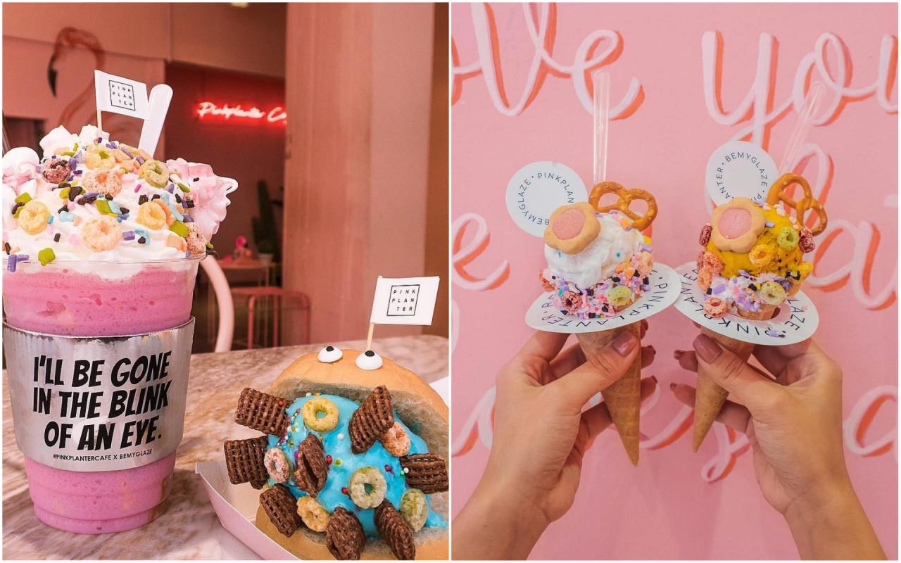 pink planter pinkplanter cafe matchbox pink themed cafe shop bangkok thailand food milkshake ice cream