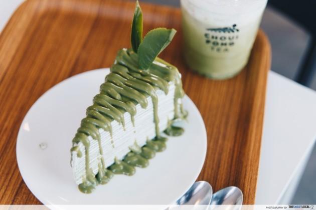 chui fong tea plantation matcha green tea chiang rai thailand airasia instagrammable green tea frappe crepe cake
