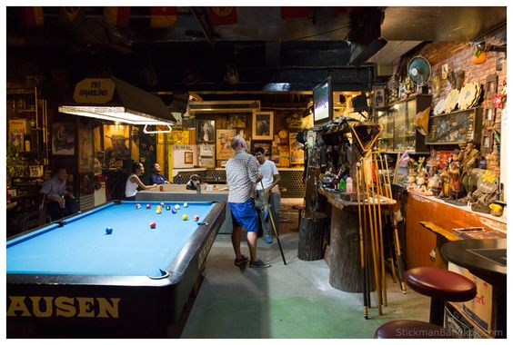 Old Other Office Bar - interior, pool table
